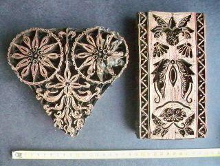 Formen Guss Jugendstil Ornamente Metall Stempel Druck Muster Platte Handgef. Bild