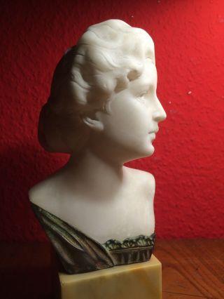 Antik Marmorbüste Alabasterbüste Jugendstil Frauenbüste Alfredo Neri Bild