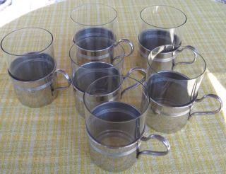 11 Teeglashalter Antik Aus Aussteuer Von 1908 Silberfarben Schlicht Elegant Bild