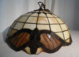 Antike Tiffany - Lampe Deckenleuchte Um 1900 Jugendstil Top - Bild
