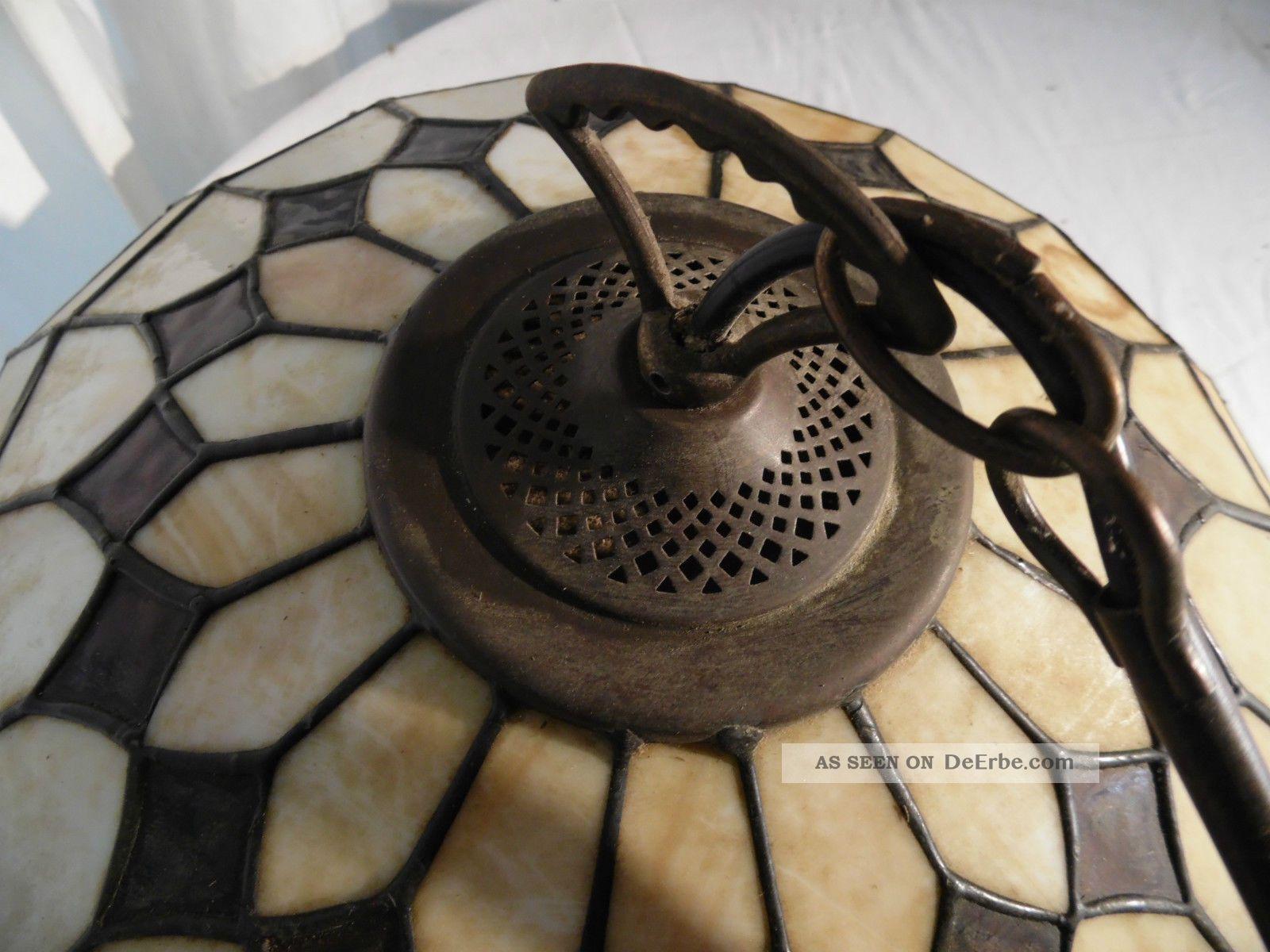 antike tiffany lampe deckenleuchte um 1900 jugendstil top. Black Bedroom Furniture Sets. Home Design Ideas
