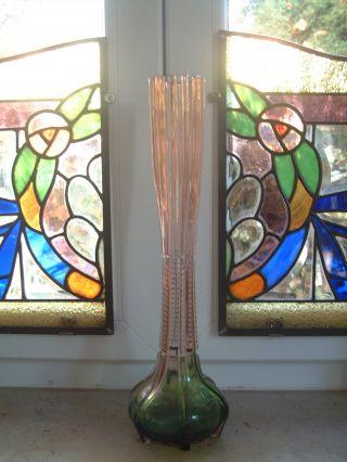 Glasvase,  Jugendstil,  Art Nouveau Soliflor - Vase,  Ein Meisterwerk Der Glaskunst Bild