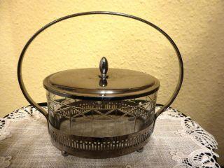 Keksdose Konfektdose Oval Glasdose Mit Deckel Und Henkel Bild