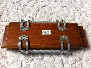 Krawattenpresse Der Marke Austin Reed Ltd. ,  London Aus Holz Bild