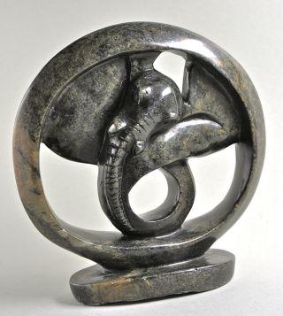 Elefanten - Skulptur,  Art Deko - Arbeit Der 20iger Jahre,  Steinguß,  Höhe 23 Cm. Bild