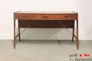 Teak Schreibtisch Danish Desk 50s 60s Midcentury Design Bild