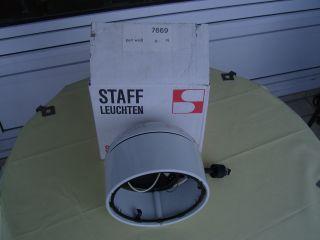 Staff 7669 Studio Deckenstrahler Für Lichschiene Weiß 70er 20 Cm Durchmesser Bild