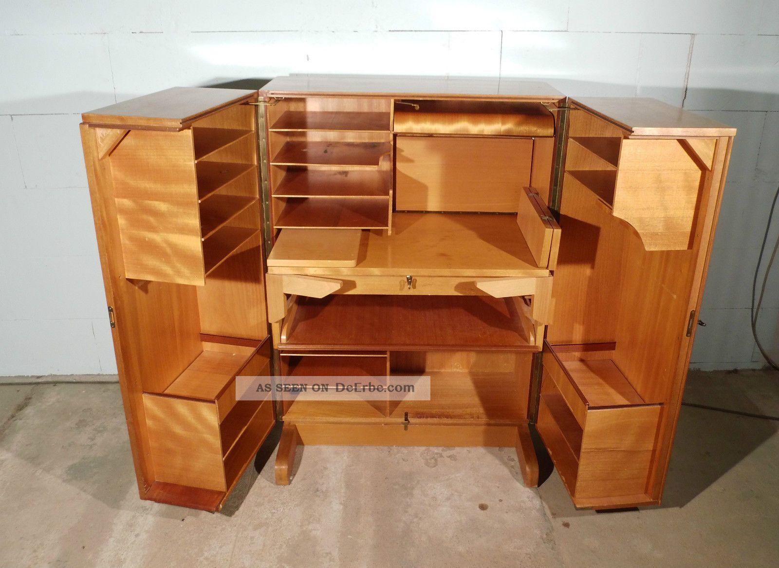 hausb ro kubus raumwunder sekret r nussbaum furniert 50er bauhaus design rarit t. Black Bedroom Furniture Sets. Home Design Ideas