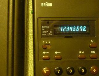 Braun Control Et 22 Taschenrechner Mit Hardcover Und Anleitung Bild