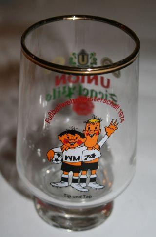 70er Jahre Glas Bierglas Tip Und Tap Fußball Wm 1974 Dortmunder Siegel - Pils Bild