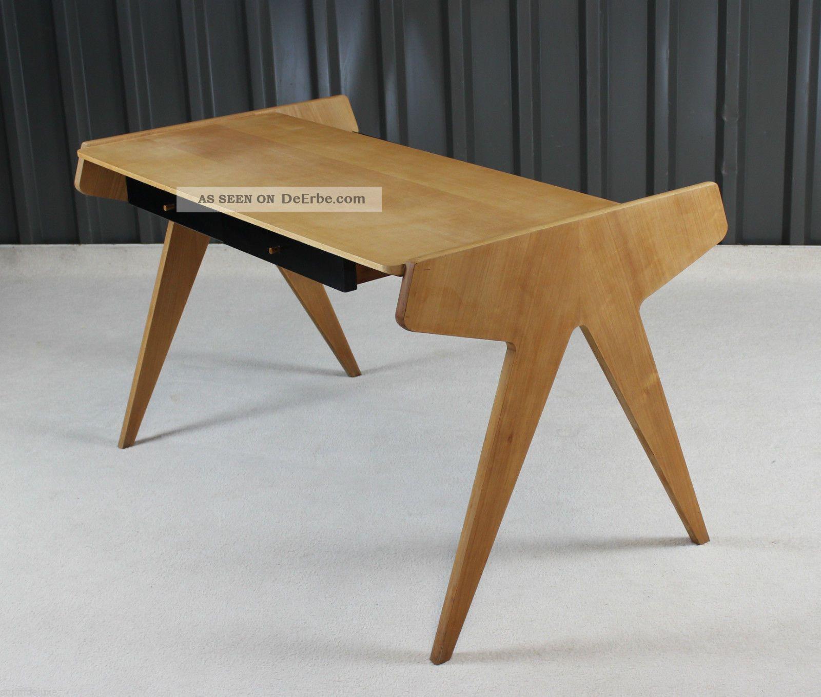 Mid Century Modernist Desk ° Schreibtisch ° Wk ° Helmut Magg 1950-1959 Bild