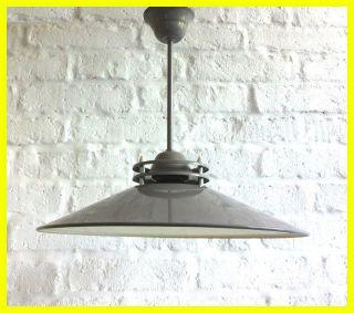 Fabriklampe Industrielampe Lampe Industrial Lamp Bauhaus Art Deco Emaille Loft Bild