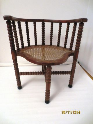 Orig.  Captains - Chair,  Eckstuhl,  Um 1890 Jugendstil Bild