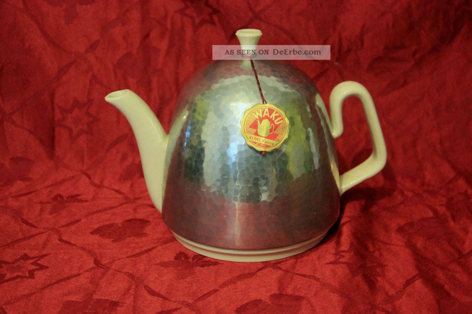 Waku Thermokanne Kaffee/teekanne Mit Haube 50er Jahre 1 Ltr. 1950-1959 Bild