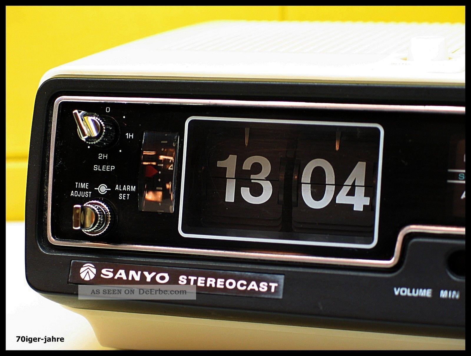 Sanyo Stereocast - Klappzahlen - Radio - Radiowecker - Wecker - Flip Clock - 70er - Vintage 1970-1979 Bild