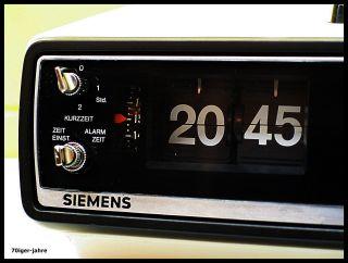 Siemens Alpha - Klappzahlen - Radio - Radiowecker - Wecker - Flip Clock - 70er Jahre - Vintage Bild