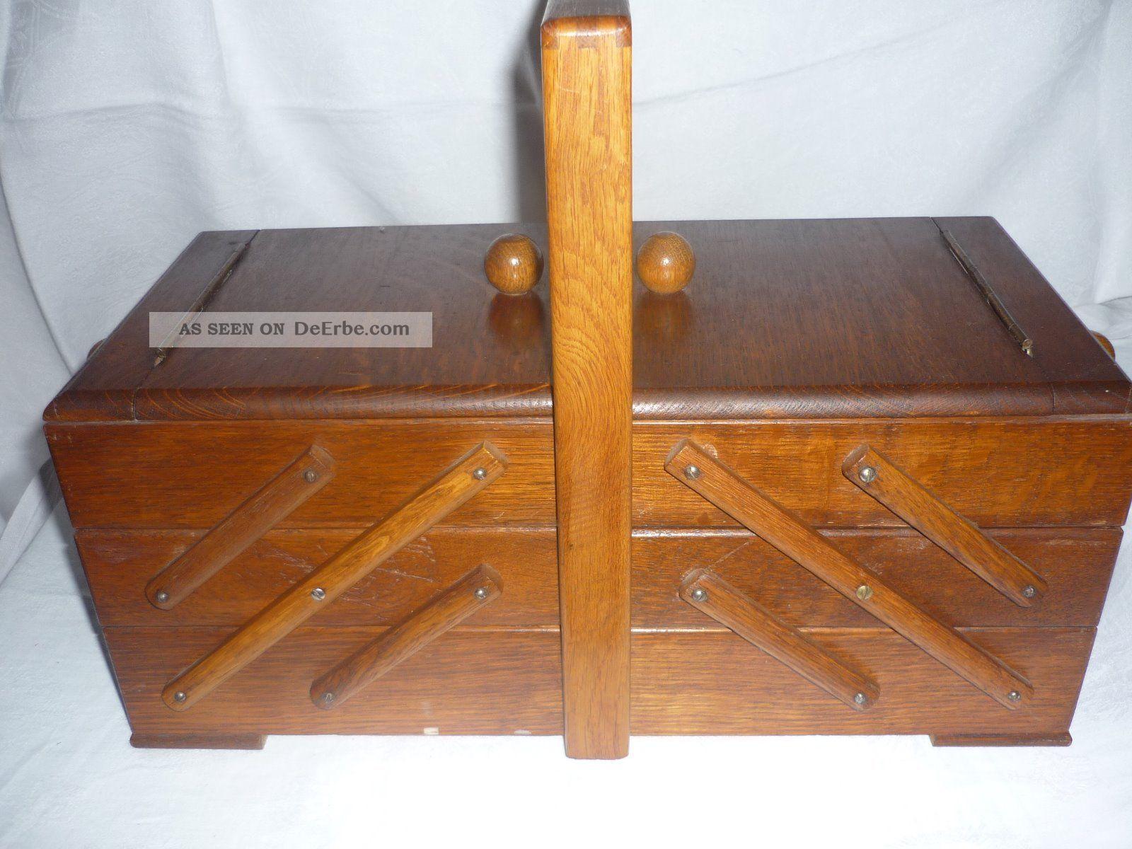 alter n hkasten der 50er jahre mit n hbeutel stopfei und inhalt. Black Bedroom Furniture Sets. Home Design Ideas