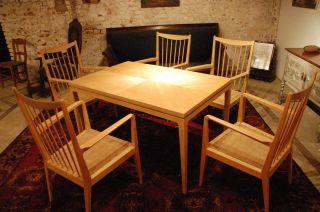 Designer Tischgruppe Aus Esche,  Von Ca.  1950 - 1960 Bild