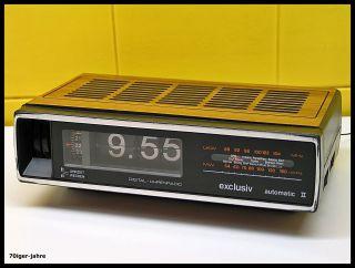Exclusiv Digitaluhr - Klappzahlen - Radiowecker - Wecker - Radio - Flip Clock - 70er - Vintage Bild
