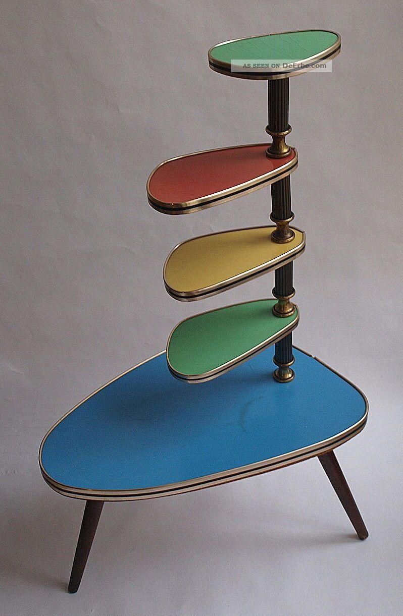 50er jahre nierentisch blumentisch blumenbank. Black Bedroom Furniture Sets. Home Design Ideas