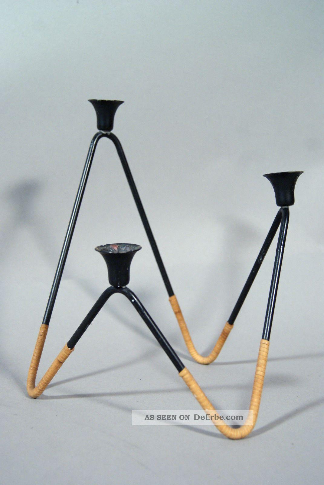 Edler String Kerzenständer°danish Design °mid - Century Candle Holder°kerzenhalter 1950-1959 Bild