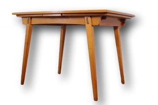 Mid Century Tisch Esstisch Ausziehbar RÜster Rockabilly Ära 50er 60er Bild