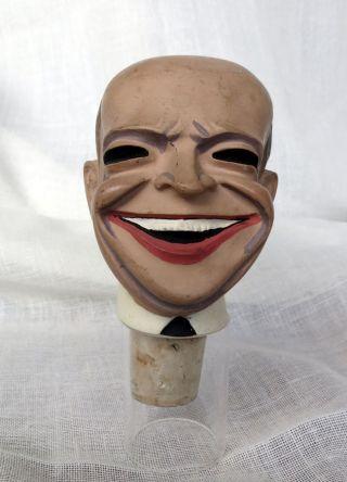 Alter Rarer Zierkorken Dwight D.  Eisenhower Achatit Flaschenkopf Korken Bild