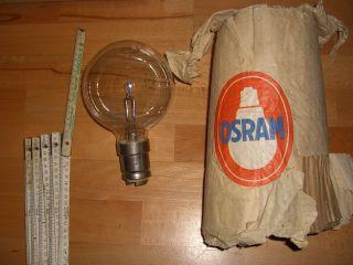 1000w Osram 24v Riesige Glühbirne Glühlampe Lampe Unbenutzt / Nos Bild