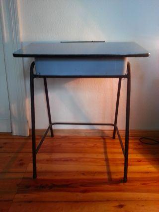 Kinderschreibtisch 50 ' S Desk Vintage Mid Century Stahlrohr Bild