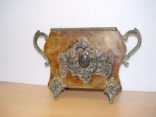 Massive Jugendstil Vase/gefäß Um 1920 Kupfer Dachbodenfund Bild