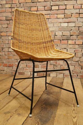 60s Basket Chair Designer Stuhl Korbstuhl 60er Franco Legner Ära Vintage 2 Bild