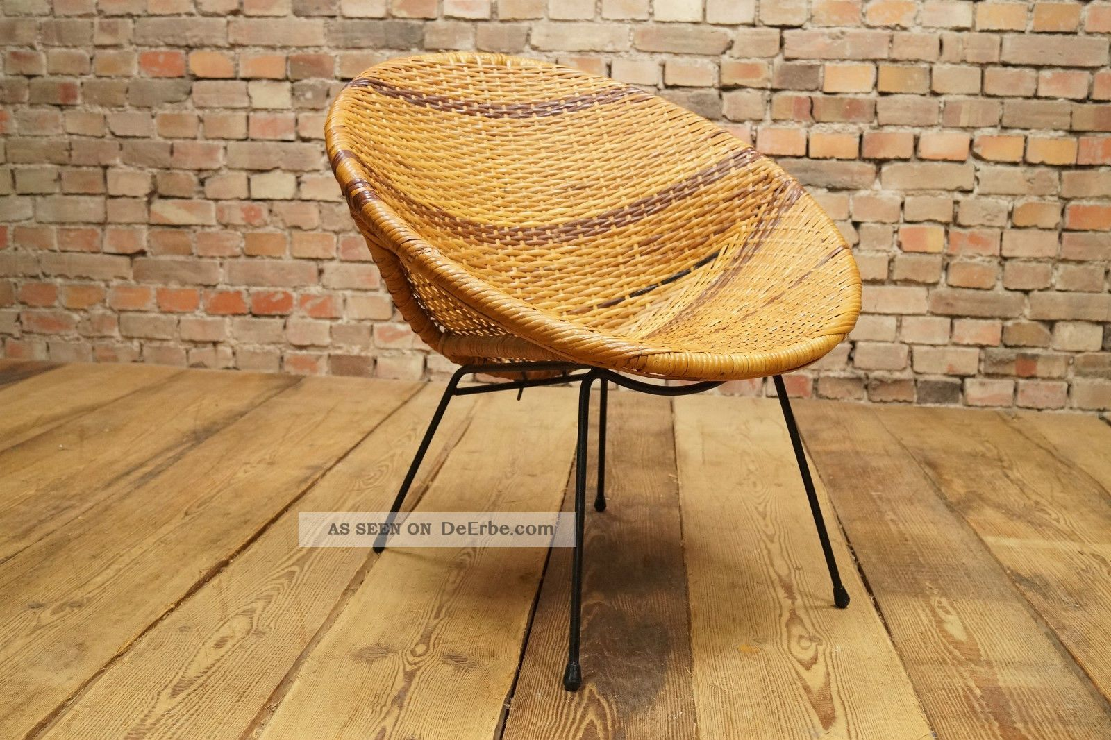 60s basket chair designer stuhl sessel korbstuhl 60er for Stuhl design 60er