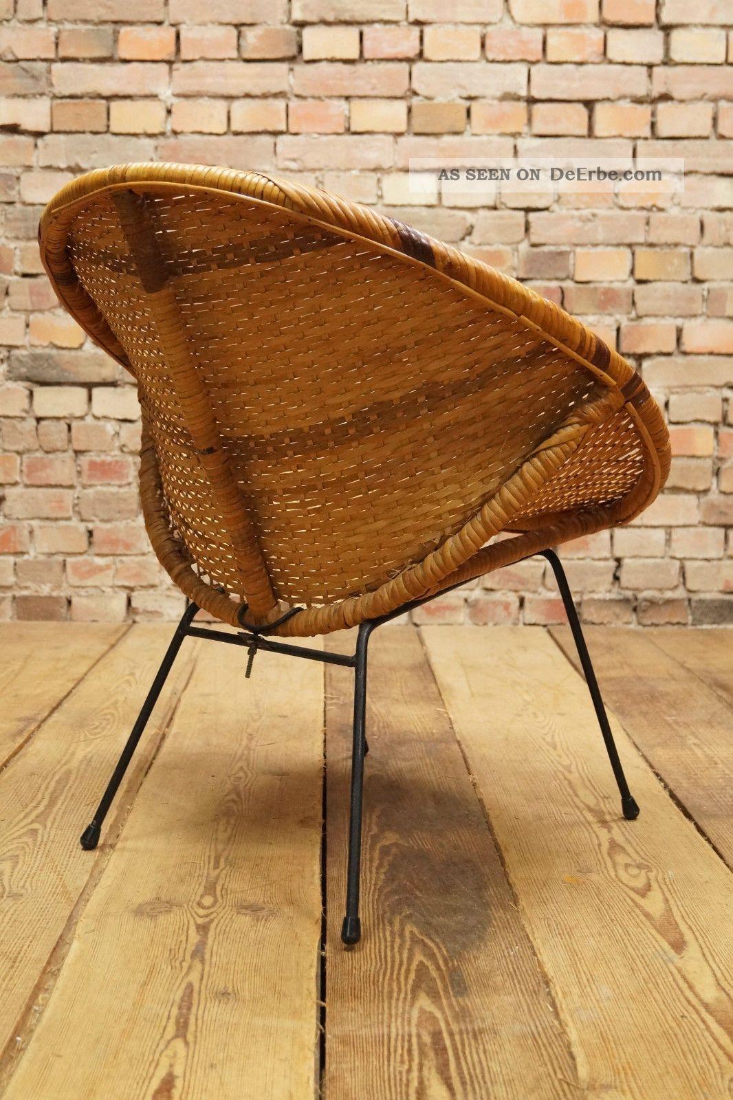 60s basket chair designer stuhl sessel korbstuhl 60er for Design korbstuhl