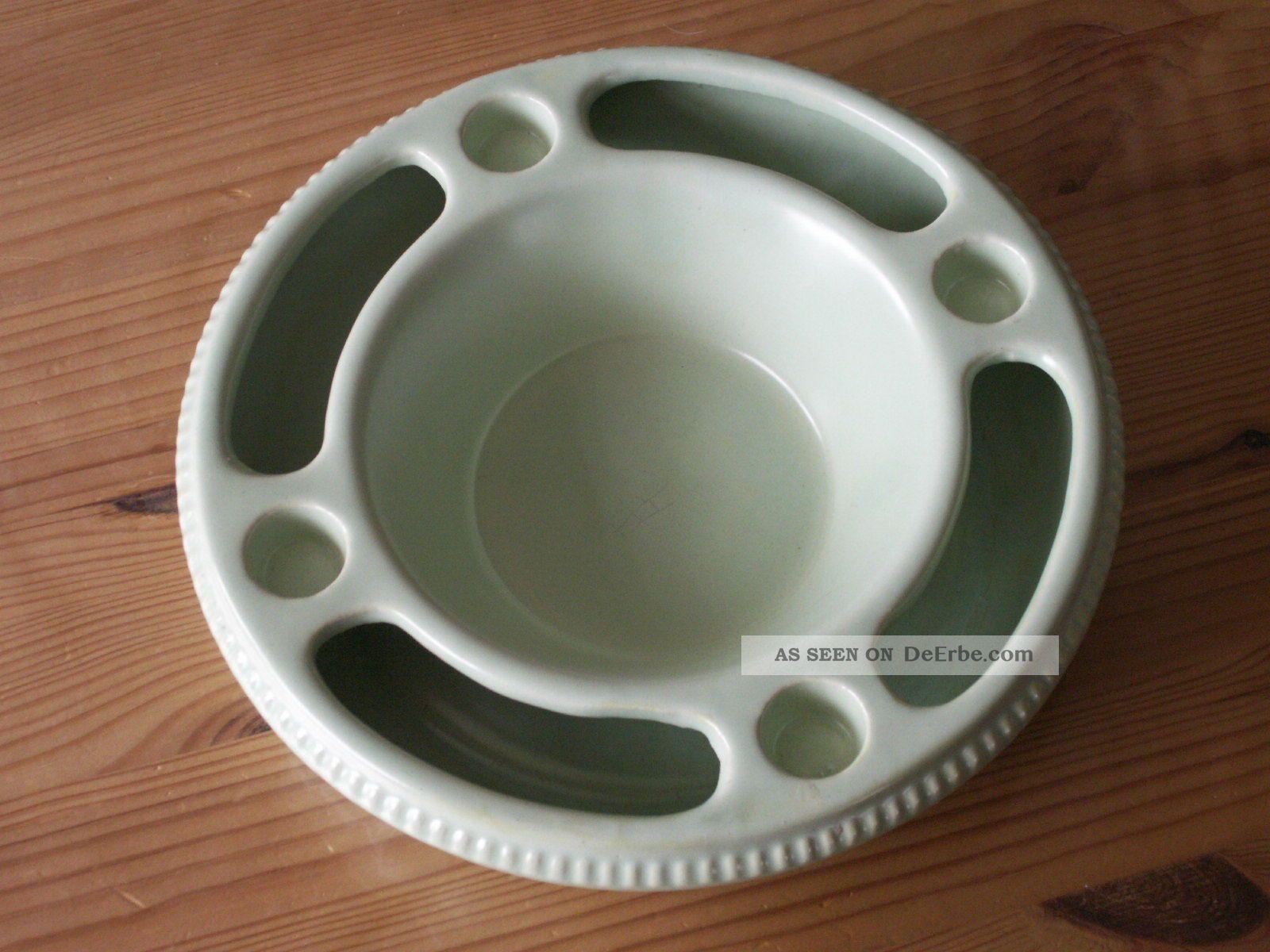 Dachbodenfund keramik adventskranz 60 70er jahre jasba steckring hellgr n - Design adventskranz ...