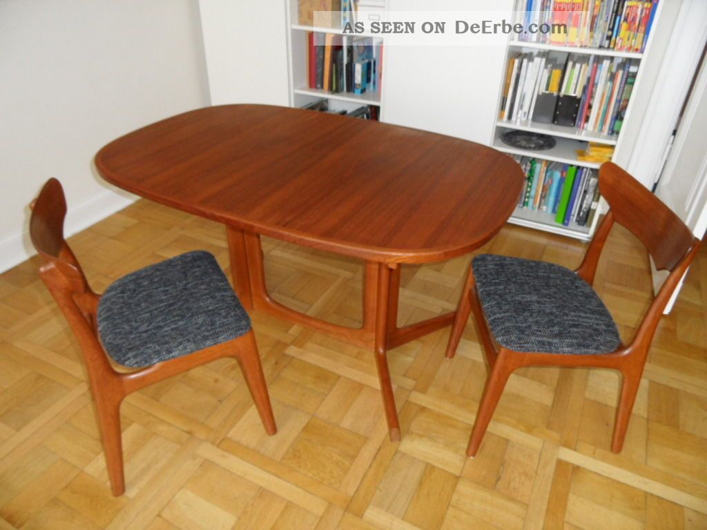 teak esstisch oval ausziehbar gudme m belfabrik made in denmark. Black Bedroom Furniture Sets. Home Design Ideas