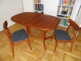 Teak Esstisch Oval,  Ausziehbar,  Gudme Möbelfabrik,  Made In Denmark Bild