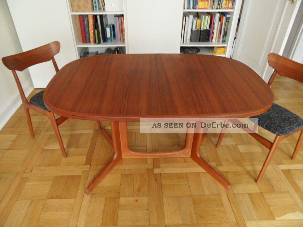 teak esstisch oval ausziehbar gudme m belfabrik made in denmark. Black Bedroom Furniture Sets. Home Design Ideas