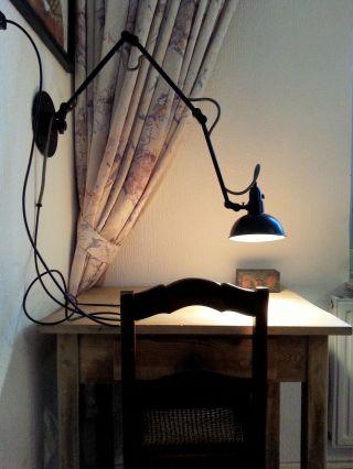 Scherenlampe Werkstattlampe Schreibtisch Lampe Loft Leuchte Art Deco Bauhaus Bild