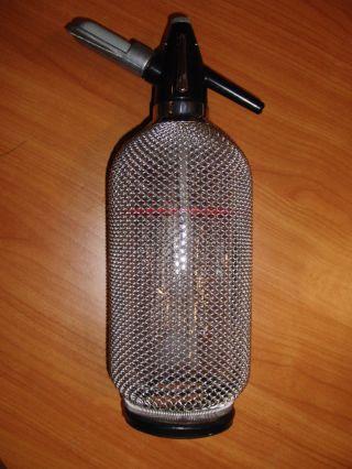 Design Soda Siphon Flasche Metall Gitter Netz Bar 60er 70er Jahre Bild