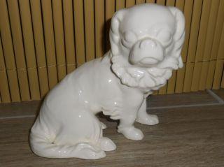 Max Roessler Jugendstil Art Deco Keramik Figur Hund Tempelhund King Charles Bild