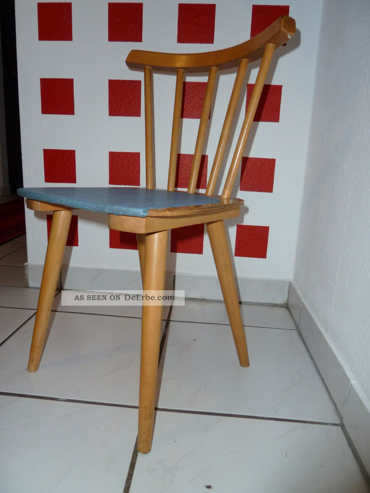 Kinder Kinderstuhl Küchenstuhl Sprossenstuhl 50er 60er Jahre Rockabilly 1950-1959 Bild
