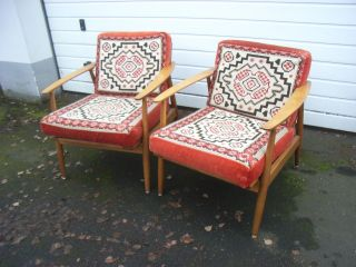 2 Sessel Klassisches Danish Design Easy Chair 60tis Bild