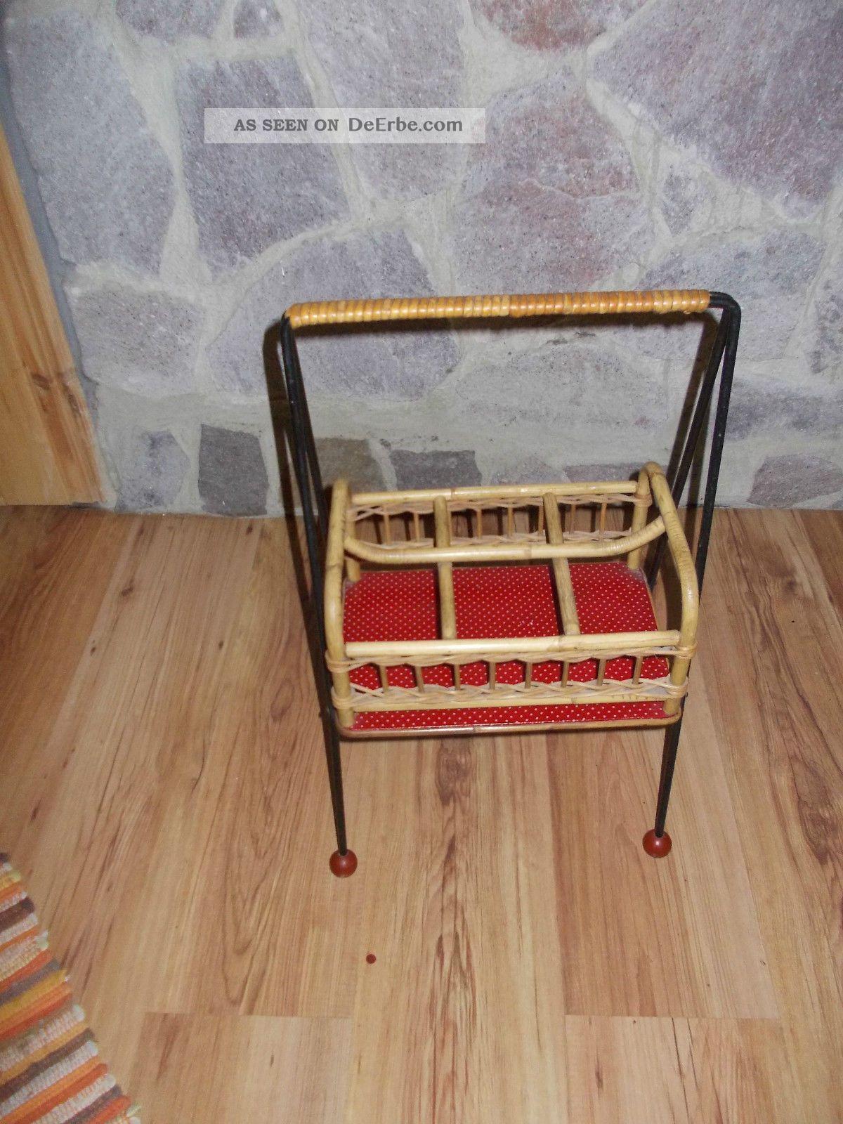 ddr m bel flaschenhalter st nder korb m bel retro vintage 60er j. Black Bedroom Furniture Sets. Home Design Ideas