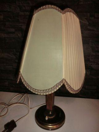Antike Tischlampe Lampe Mit Schirm 50 Cm Hoch 30 - Iger Jahre Bild