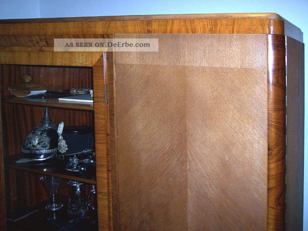Antiquitat Wohnzimmerschrank Mit Vitrine 30er Jahre