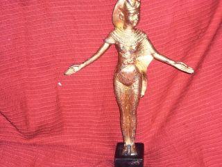 Skulptur Göttin Isis Bronze Vergoldet.  Um 1960 Bild