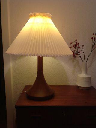 Große Le Klint / Teak Lampe Bild