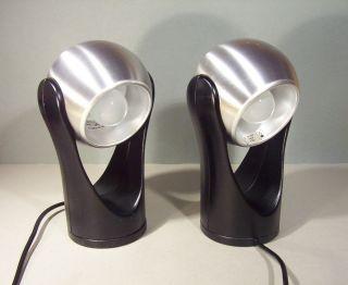 2 X Kugelreflektor 60/70er Panton Colani Ära Sensor Alu Leuchte Insta Sensorette Bild