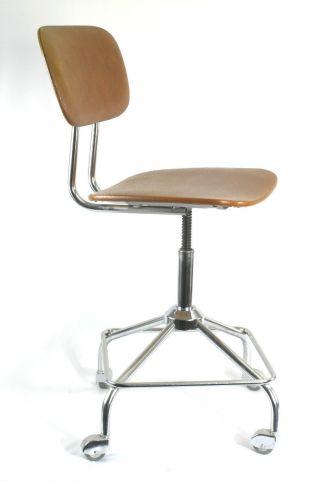 Bürostuhl 60er 70er Design Stahlrohr Chrom Bild