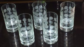 Ingrid Glas 5 Wasser Saft - Gläser Polka Dots 70er Retro Vintage Pop Art Bild
